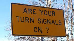 Turn Signal Sign